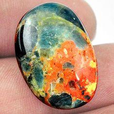 27cts apatite (madagascar) orange cabochon 24x17mm oval loose gemstone s1157