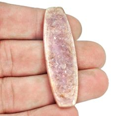 Natural 22.95cts muscovite purple cabochon 49x15 mm fancy loose gemstone s1281