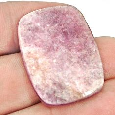 Natural 23.90cts muscovite purple cabochon 30x22 mm cushion loose gemstone s1285