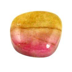 Natural 6.25cts bio tourmaline pink cabochon 12x10 mm fancy loose gemstone s1370
