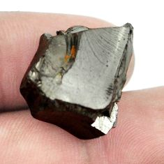 Natural 13.90cts shungite black rough 22x20 mm fancy loose gemstone s1421