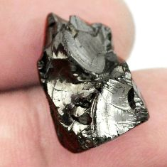 Natural 14.85cts shungite black rough 20x16 mm fancy loose gemstone s1422