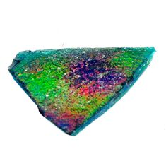 12.40cts dichroic glass multicolor cabochon 27x17.5 mm loose gemstone s15211