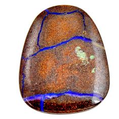 Natural 36.30cts boulder opal brown cabochon 32.5x25.5 mm loose gemstone s15287