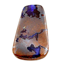 Natural 31.30cts boulder opal brown cabochon 29x18mm fancy loose gemstone s15336
