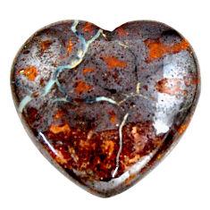 Natural 28.45cts boulder opal brown cabochon 22.5x22 mm loose gemstone s15355