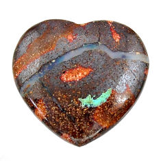 boulder opal brown cabochon 20x20mm heart loose gemstone s15359