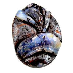 Natural 30.10cts boulder opal carving brown 30x21.5 mm loose gemstone s15363