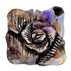 Natural 19.45cts boulder opal carving brown 21x20 mm fancy loose gemstone s15415
