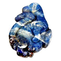 Natural 16.30cts boulder opal carving 24x17.5 mm dinosure loose gemstone s15422