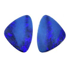 Natural 9.30cts doublet opal australian 17.5x12 mm pair loose gemstone s15548