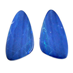 Natural 11.30cts doublet opal australian 20x10 mm pair loose gemstone s15560