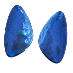 Natural 10.10cts doublet opal australian 20x10 mm pair loose gemstone s15563