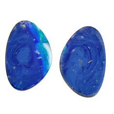 Natural 8.10cts doublet opal australian 15.5x10 mm pair loose gemstone s15573