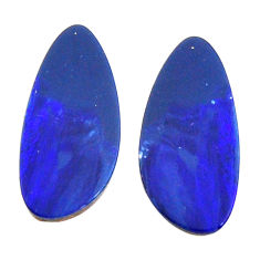 Natural 9.35cts doublet opal australian 18x8.5 mm pair loose gemstone s15575