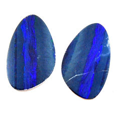 Natural 7.35cts doublet opal australian blue 16x10 mm pair loose gemstone s15597