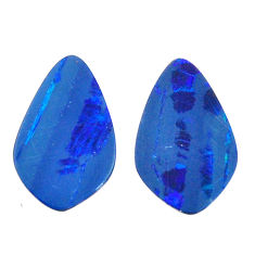 Natural 7.35cts doublet opal australian blue 16x10 mm pair loose gemstone s15600
