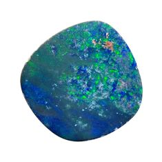 Natural 6.30cts doublet opal australian blue 15x14mm fancy loose gemstone s15632