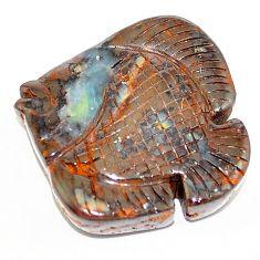 Natural 33.60cts boulder opal carving brown carving 25x26mm loose gemstone s1580