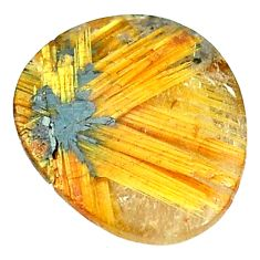 Natural 10.65cts half star rutile golden cabochon 15x13 mm fancy gemstone s1660