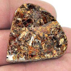 Natural 57.65ct astrophyllite star leaf rough 29x29mm heart loose gemstone s1809