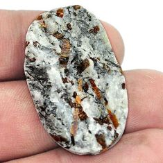 Natural 39.65cts astrophyllite star leaf rough 35x20mm oval loose gemstone s1819