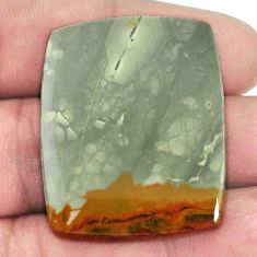 Natural 58.45cts rocky butte picture jasper 35x28mm octagon loose gemstone s1945