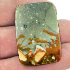 Natural 45.15cts rocky butte picture jasper 35x24mm octagan loose gemstone s1952