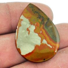 Natural 25.10cts rocky butte picture jasper 31x22 mm pear loose gemstone s1989