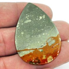 Natural 53.45cts rocky butte picture jasper 42x29 mm pear loose gemstone s2000