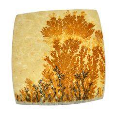 49.35cts germany psilomelane dendrite 41x36mm cushion loose gemstone s2005