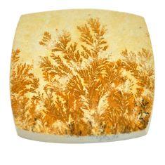 48.45cts germany psilomelane dendrite 33x32 mm cushion loose gemstone s2025