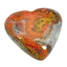Natural 16.95cts moroccan seam agate brown 20x20 mm heart loose gemstone s2072