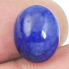 Natural 10.10cts lapis lazuli blue afghani 13x10 mm oval loose gemstone s2285