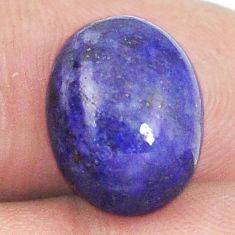 Natural 9.35cts lapis lazuli blue afghani 14x10 mm oval loose gemstone s2286