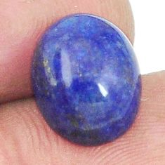 Natural 8.25cts lapis lazuli blue afghani 12x10 mm oval loose gemstone s2294