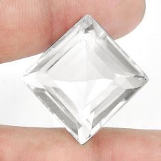 Natural 36.15cts topaz white faceted 20x20 mm square loose gemstone s2352