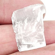 Natural 15.80cts petalite crystal white rough 22x17.5 mm loose gemstone s2677