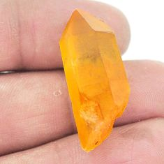 Natural 24.90cts tangerine lemurian quartz 30x11 mm fancy loose gemstone s2693
