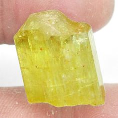 Natural 37.60cts apatite rough green rough 18x15 mm fancy loose gemstone s2714