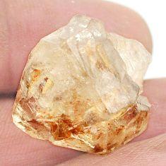 Natural 33.90cts elestial quartz rough brown 24x21 mm fancy loose gemstone s2741