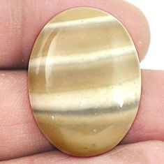 Natural 20.15cts striped flint ohio 27x20 mm oval loose gemstone s2764