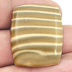 Natural 32.40ct striped flint ohio cabochon 29x23mm octagan loose gemstone s2774