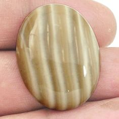 Natural 29.45cts striped flint ohio cabochon 28x21 mm oval loose gemstone s2775