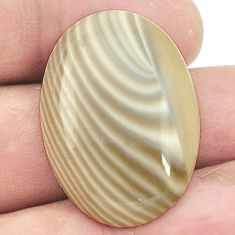 Natural 24.45cts striped flint ohio cabochon 30x21 mm oval loose gemstone s2779