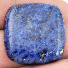 Natural 24.90cts dumortierite blue cabochon 26x25 cushion loose gemstone s2856