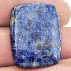 Natural 26.85cts dumortierite blue cabochon 28.5x21 octagan loose gemstone s2858