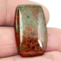 Natural 23.80cts grass garnet green cabochon 28x17 octagan loose gemstone s2922