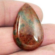 Natural 28.80cts grass garnet green cabochon 28x17 mm pear loose gemstone s2926