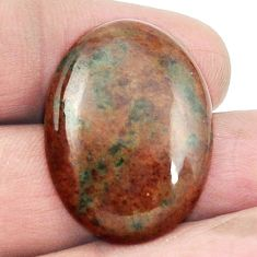 Natural 29.80cts grass garnet green cabochon 28x20 mm oval loose gemstone s2927